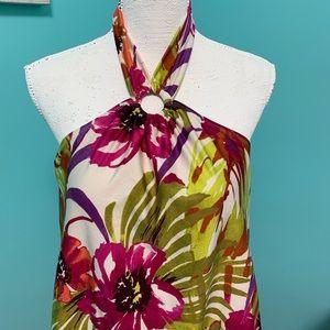 boutique Swim - NWOT floral one piece halter swim suit